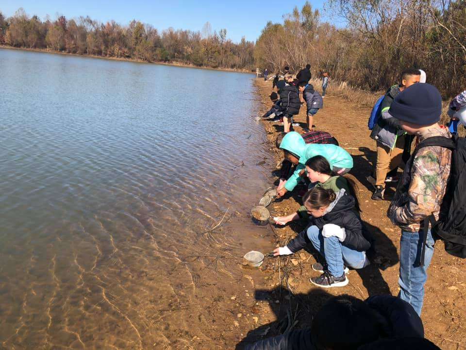 Students experience the natural world