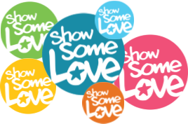 Group of Show Some Love circles in each color